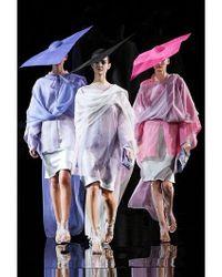 Giorgio Armani | Purple Long Silk Poncho | Lyst
