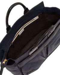 Rag & Bone - Blue Pilot Large Leather Satchel Bag Navy - Lyst