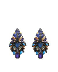 Erickson Beamon | Blue Talitha Earrings | Lyst