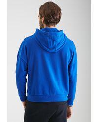 Forever 21 - Blue Dolman Sleeve Hoodie - Lyst