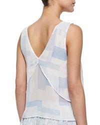 Joie - Blue Kallisa Printed Layered Silk Top - Lyst