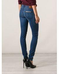 Burberry Brit - Blue Skinny Jeans - Lyst