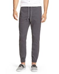 Volcom | Gray 'fitzroy' Woven Jogger Pants for Men | Lyst