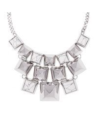 Vince Camuto | Metallic Pyramid Stud Necklace | Lyst