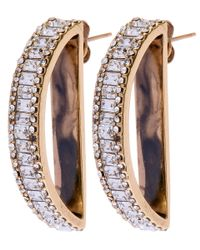 Lulu Frost - Metallic Medium Gold-tone Veratrum Half-moon Earrings - Lyst