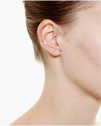 Yvonne Léon | Metallic 18K Gold Feuilletis Pampille Stud Earring | Lyst