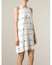 Chloé - White Embossed Flower Dress - Lyst