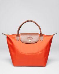 Longchamp | Orange Le Pliage Mini Tote | Lyst