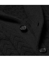 Burberry - Black Slim-Fit Wool And Cashmere-Blend Shawl-Collar Cardigan for Men - Lyst