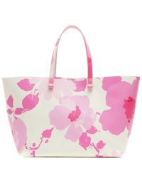 Victoria Beckham - White Simple Printed Leather Shopper - Lyst
