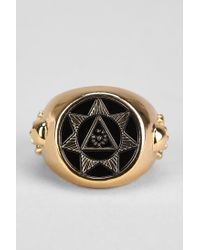 Black Scale - Metallic Seventh Star Ring for Men - Lyst