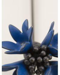 Lanvin - Blue Floral Brooch - Lyst