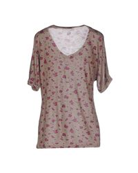 Liu Jo - Natural T-shirt - Lyst