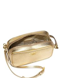 Prada - Metallic Saffiano Camera Crossbody Bag - Lyst