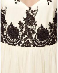 ASOS   White Mesh Embroidered Skater Dress   Lyst