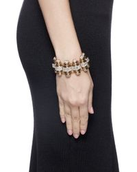 Lulu Frost | Metallic 'phantom' Crystal Pavé Baguette Charm Bracelet | Lyst