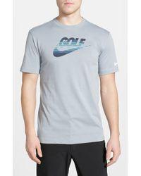 Nike - Gray 'Amplify' Dri-Fit T-Shirt for Men - Lyst