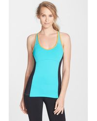 Alo Yoga | Blue 'chromatic' Long Bra Tank | Lyst