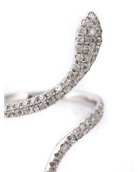 Elise Dray - Metallic Snake Pinkie Ring - Lyst