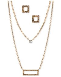 Lucky Brand | Metallic Gold-tone Crystal Jewelry Set | Lyst