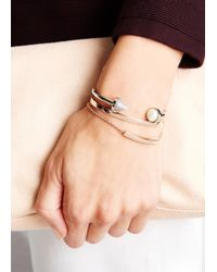 Monica Vinader - Pink Fiji Friendship 18Kt Rose Gold-Plated Bracelet - Lyst