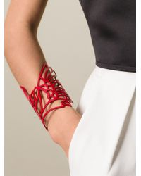 Carven - Red 'Bird' Cuff - Lyst
