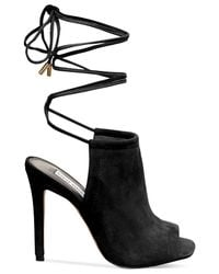 Steve Madden | Black Sophie Ankle Wrapped Sandals | Lyst