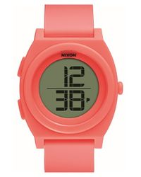 Nixon | Pink 'time Teller' Digital Watch | Lyst