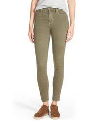 Madewell - Green 'high Riser' Garment Dyed Skinny Skinny Jeans - Lyst