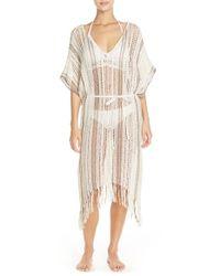 Theodora & Callum - Natural Crochet Cover-up - Lyst