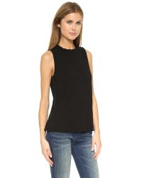 Three Dots - Black Emily Top - Lyst