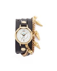 La Mer Collections - Black Lima Chain Watch - Lyst