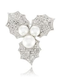 R.j. Graziano | Metallic Faux Pearl Holly Brooch | Lyst