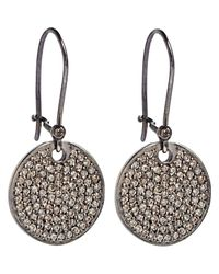 Ileana Makri - Pink Diamond Disc Earrings - Lyst