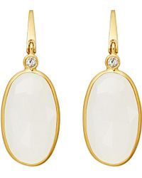 Astley Clarke | Metallic 18ct Gold Vermeil Moonstone Drop Earrings - For Women | Lyst