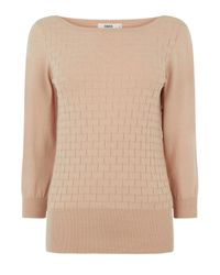 Oasis - Natural The Textured Knit - Lyst