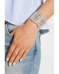 Aurelie Bidermann - Metallic Lace Silver-plated Cuff - Lyst