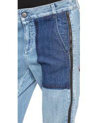 Stella McCartney - Lea Trousers Pale Blue - Lyst