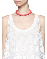Venessa Arizaga - Pink 'playa' Necklace - Lyst