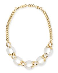 Alexis Bittar | Metallic Lucite Curb-Link Necklace (Made To Order) | Lyst