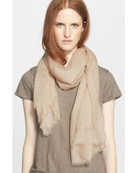 Burberry | Natural Cashmere Scarf | Lyst