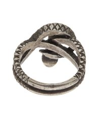 Zoe Chicco | Metallic Silver Snake Ring | Lyst