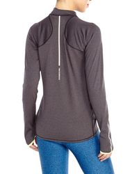 New Balance - Gray Boylston Half-Zip Running Top - Lyst