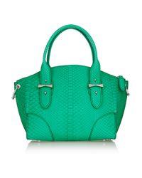 Alexander McQueen - Green Legend Small Python Shoulder Bag - Lyst