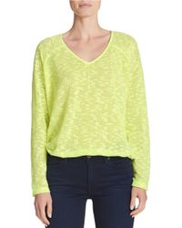Sanctuary | Green Long-sleeve V-neck Sweater | Lyst