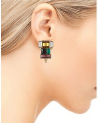 Sam Edelman | Multicolor Crystal Cluster Earrings | Lyst
