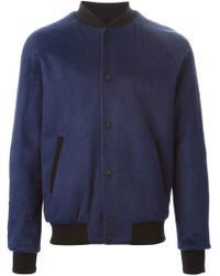 MSGM - Blue Classic Bomber Jacket for Men - Lyst
