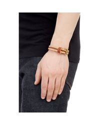 Caputo & Co. | Brown Skived Leather Bracelet for Men | Lyst