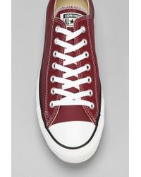 Converse - Purple Chuck Taylor All Star Leather Low-Top Men'S Sneaker for Men - Lyst