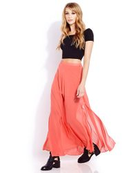 Forever 21 - Pink Must-Have M-Slit Maxi Skirt - Lyst